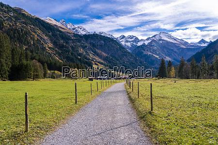 germany bavaria oberallgaeu allgaeu alps stillach