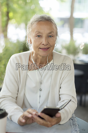 portrait of senior woman at an