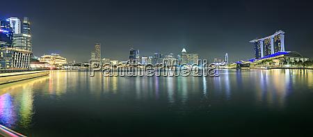 singapore view to skyline by night
