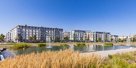 germany karlsruhe development area city park