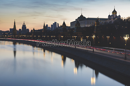 russia moscow the kremlin embankment with