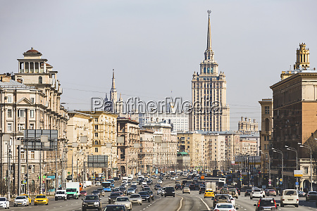 russia moscow view of kutuzovsky avenue