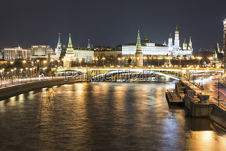 russia moscow panoramic view of moskva