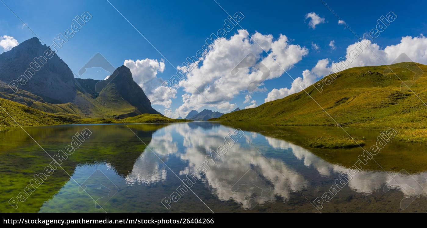 deutschland, bayern, allgäu, allgäuer, alpen, rappensee, hochrappenkopf, und, kleiner, rappenkopf - 26404266