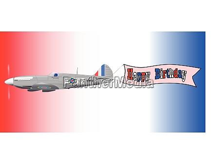 geburtstag flugzeug banner