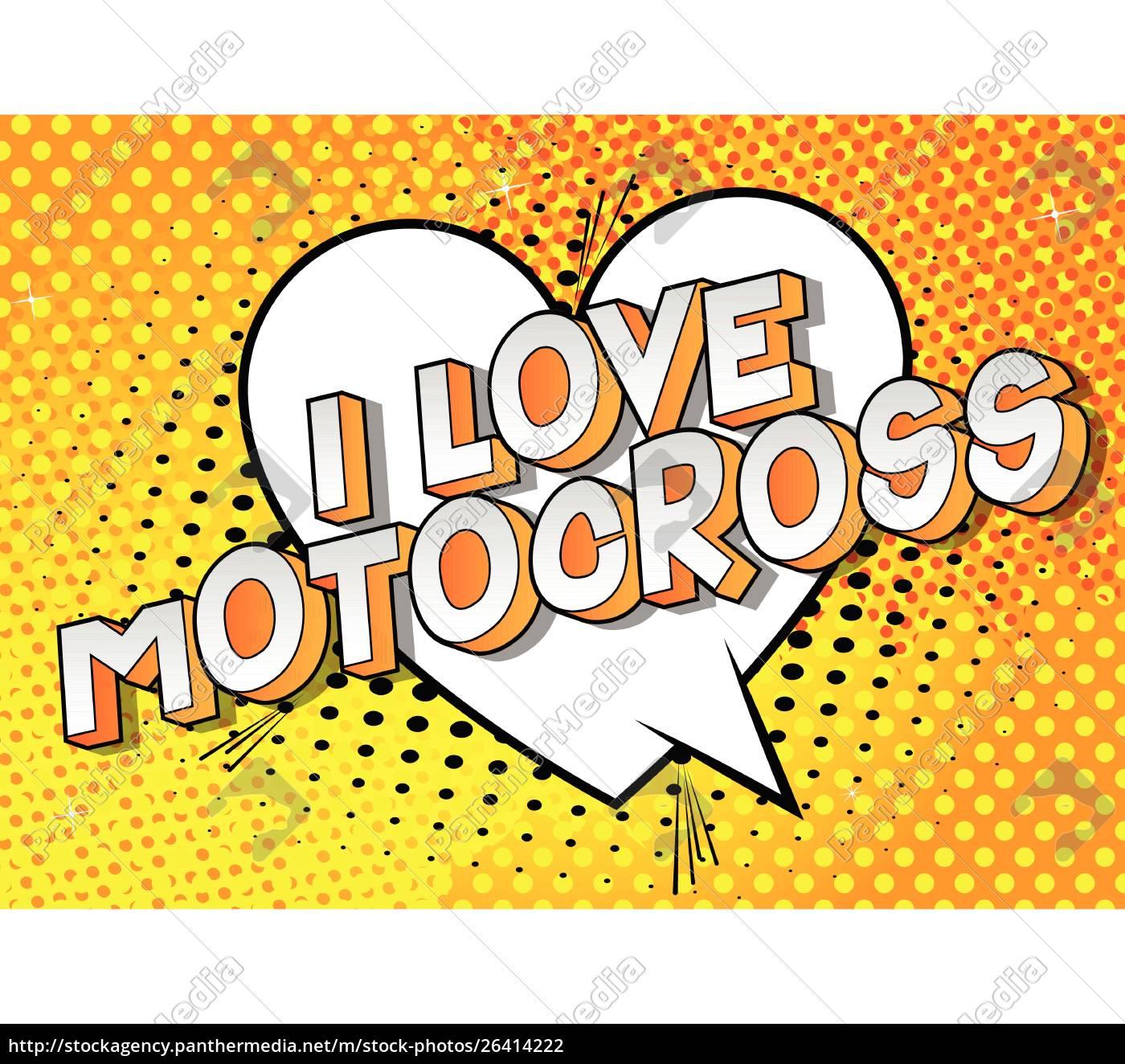 i, love, motocross-comic, book, style, words. - 26414222