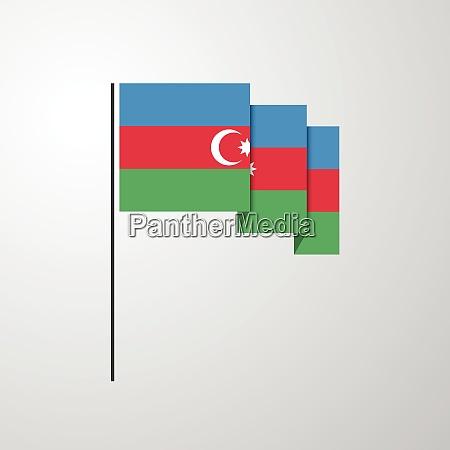 aserbaidschan winkt flagge kreativen hintergrund