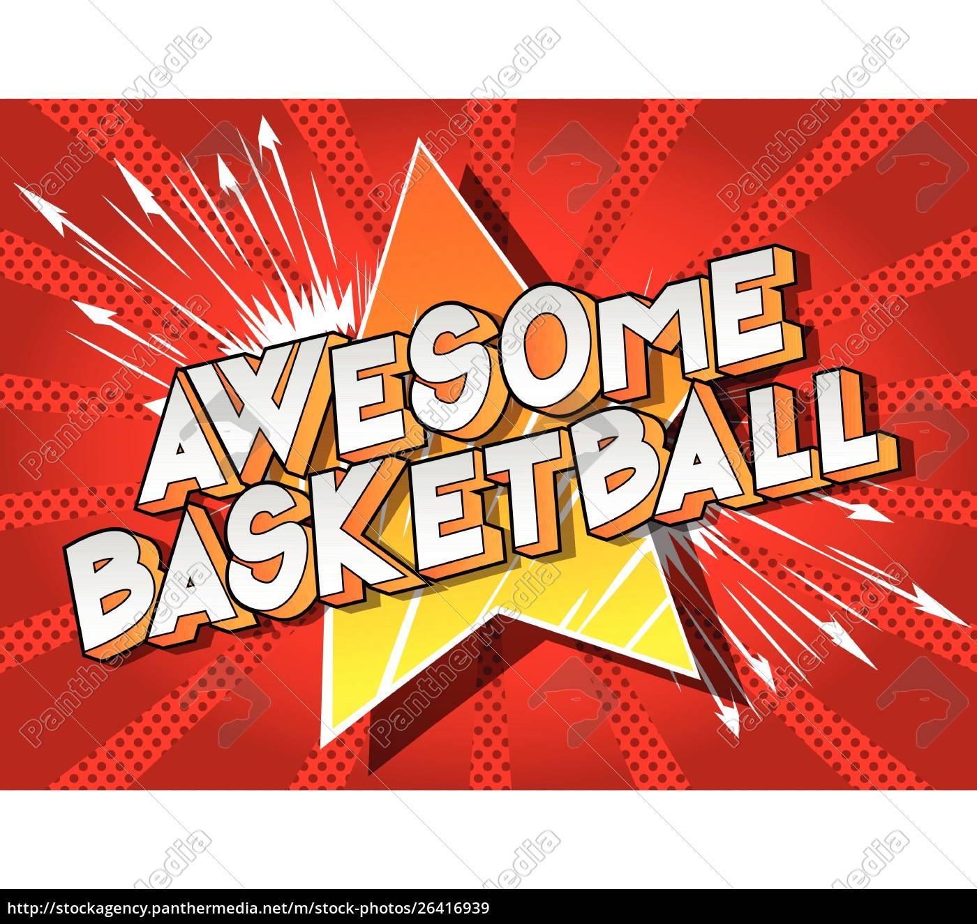 ehrfürchtig, basketball, -, comic-buch-stil-phrase. - 26416939