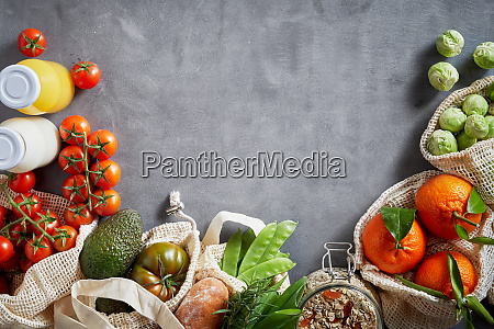 fresh organic vegetables copy space layout