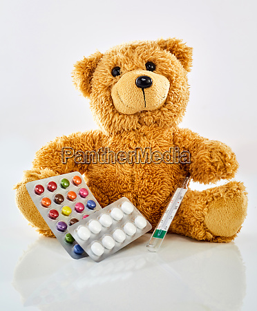 toy bear with medicine