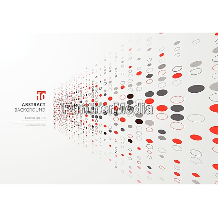 abstract technology perspective background with red