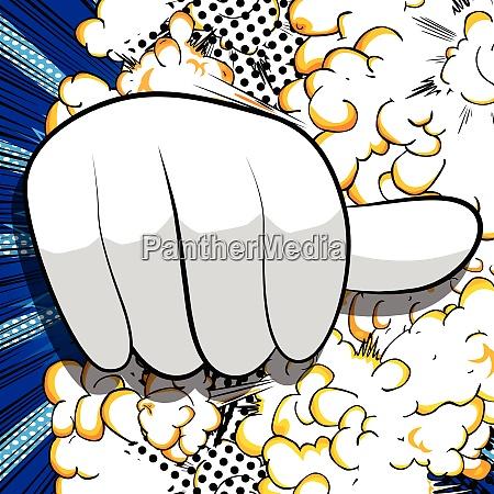 cartoon hand zeigt abneigung