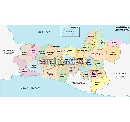 jawa tengah central java administrative and