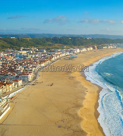 skyline of nazare beach portugal
