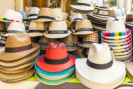 a view of hats for sale