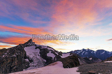 sunrise view of zinalrothorn 4421m from