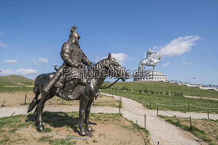 statue of a mongolian empire warrior