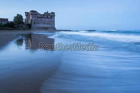 santa severa beach and castle at