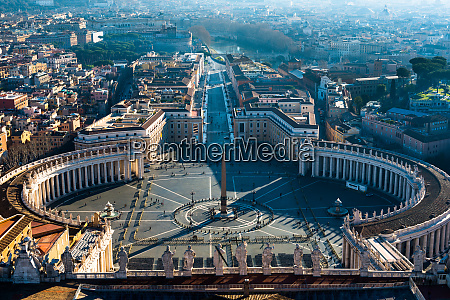 elevated views of st peters square