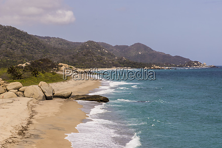 a view of a beach and