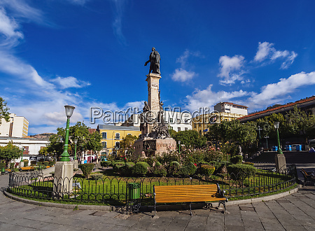 pedro domingo murillo statue on plaza