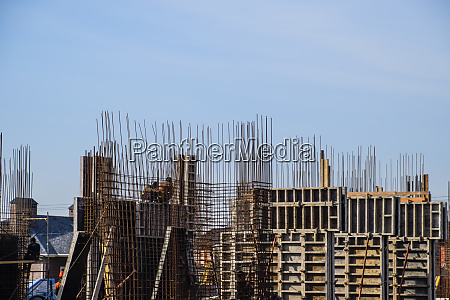 construction of a residential building reinforced
