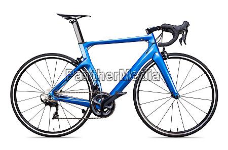 blau schwarz carbon rennsport rennrad fahrrad
