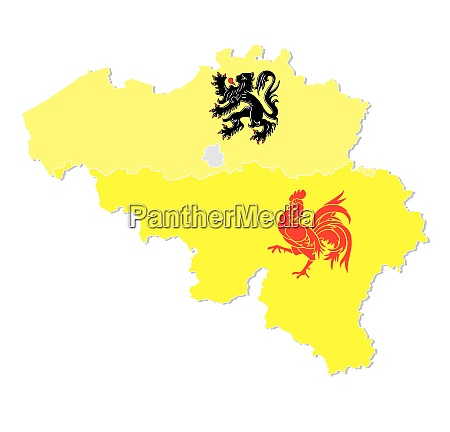 vector map of belgium with the