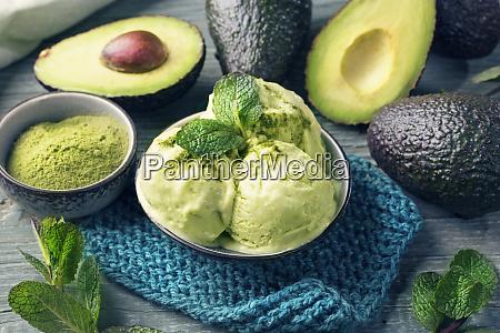 vegane avocado eiscreme