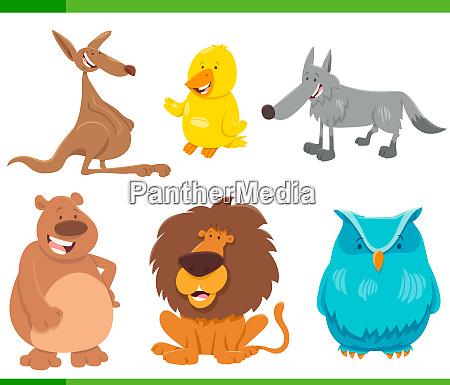 lustige tierfiguren zeichentrickserie