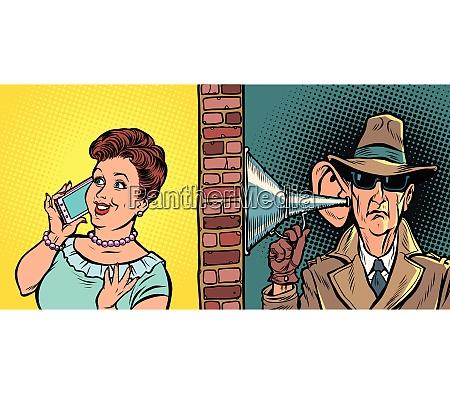 staatliche abhoergespraeche spion hoert gespraeche am