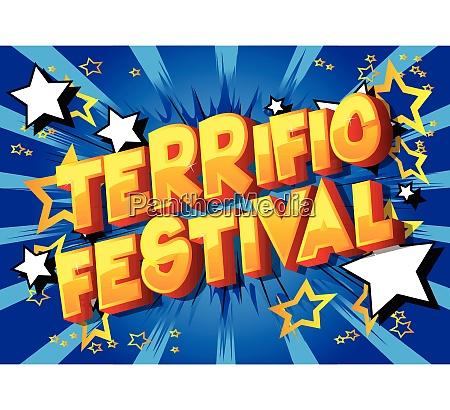 terrific festival comic book style