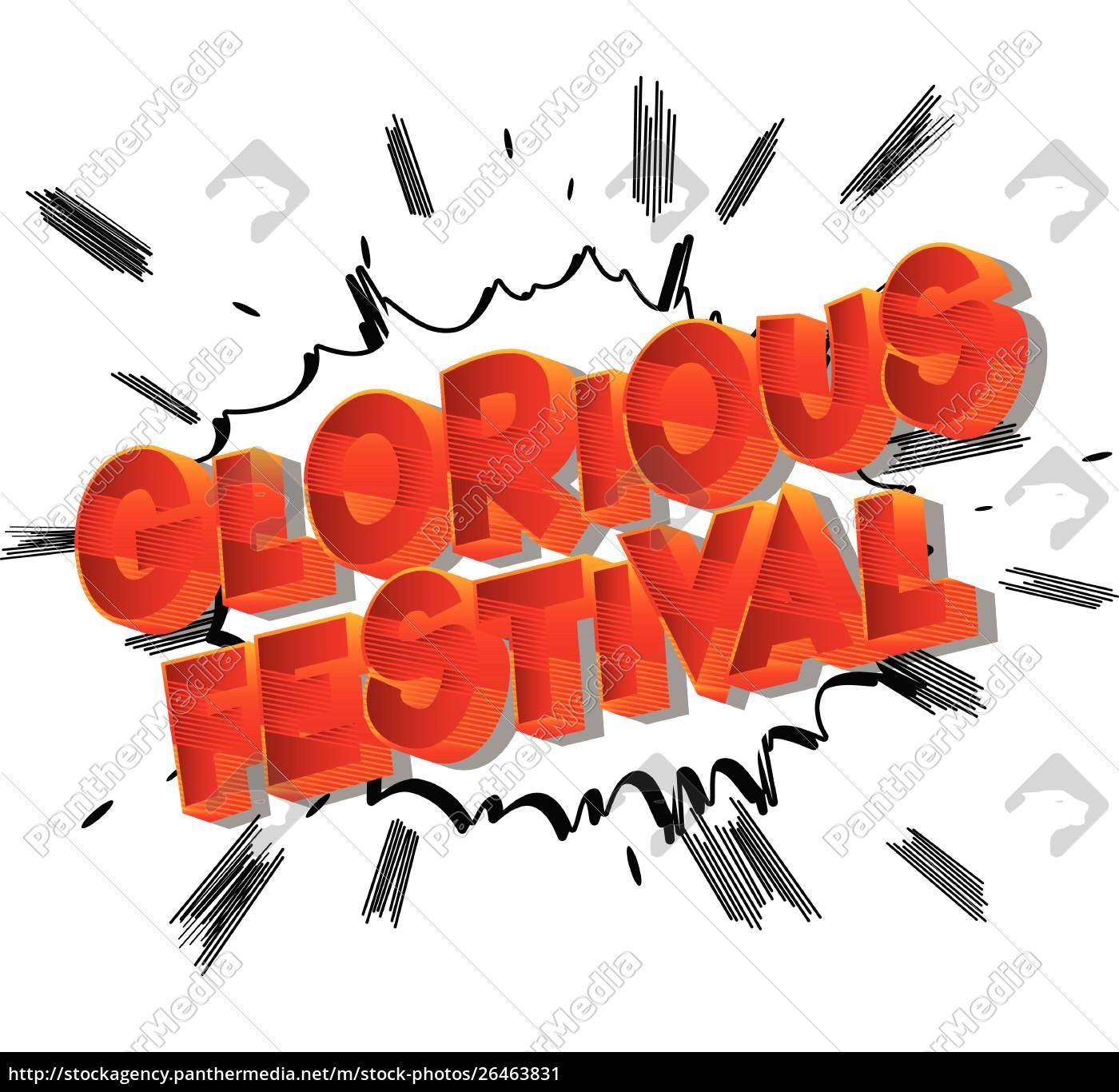 glorious, festival, -, comic-buch-stil, phrase. - 26463831