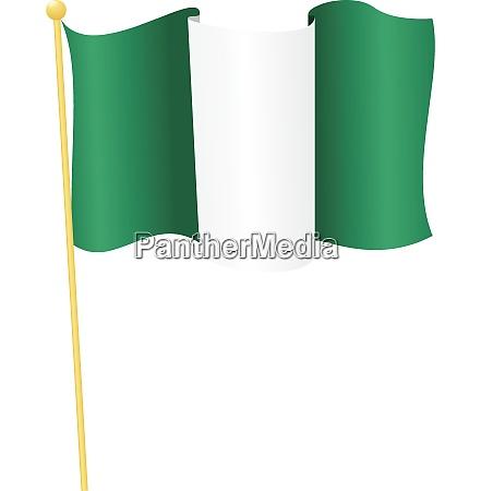 vektor illustration der flagge nigeria