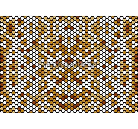 seamless mosaic circle pattern background