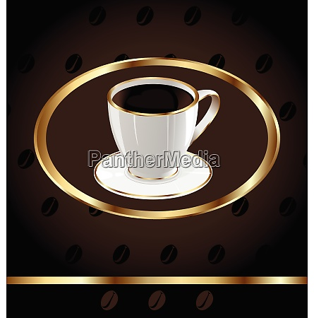 illustration vintage background for wrapping coffee
