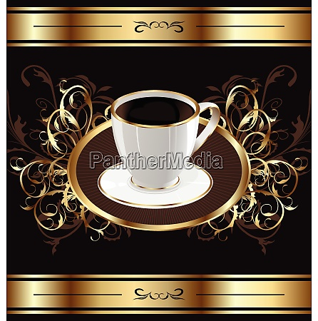 illustration vintage background for packing coffee