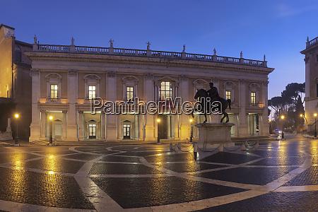piazza del campidoglio capitoline museums palazzo