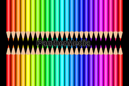 colorful color pencils in front of