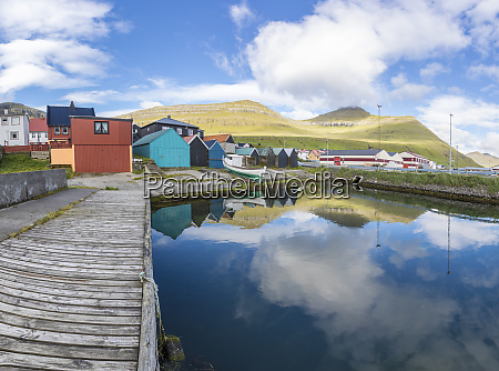 panoramic of the fishing village of