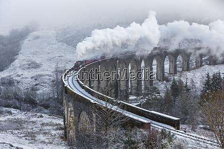 a wintery scene of the glenfinnan