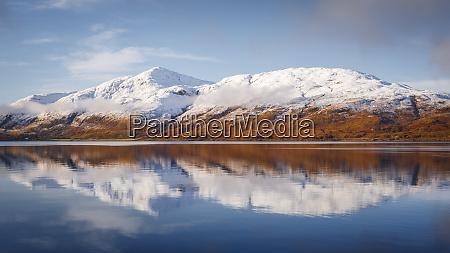 wintery scene of loch linnhe near