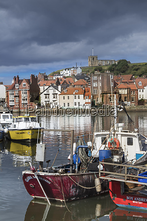 view of fishing boats in the