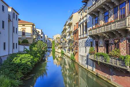view of river lined by houses