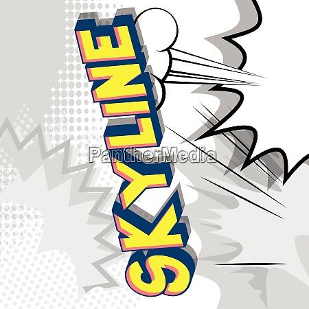 skyline comic book style phrase