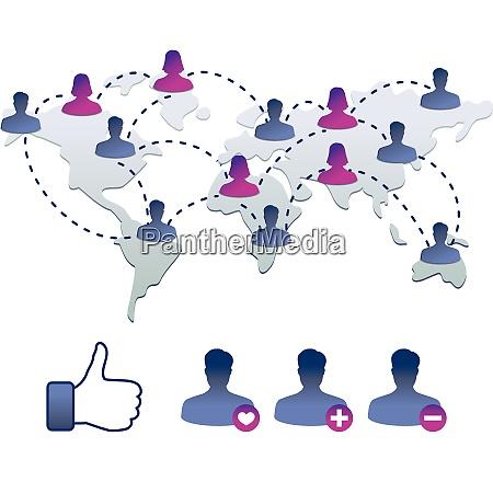 sammlung von facebook ikonen vektorillustration