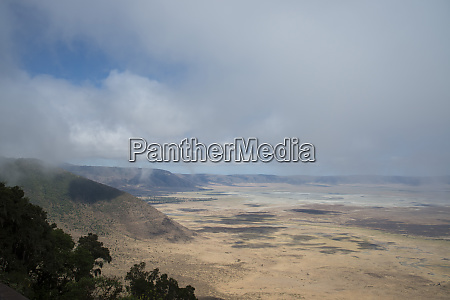 an aerial view of the ngorongoro