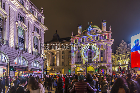 illuminated building on piccadilly circus during