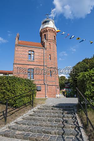 leuchtturm von ustka ostsee polen europa