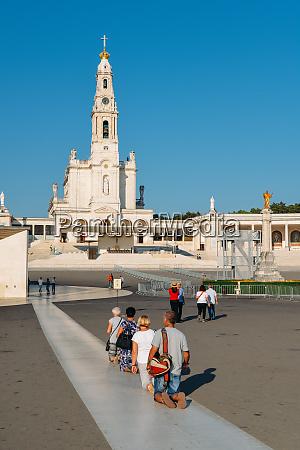 religious pilgrims at the sanctuary of